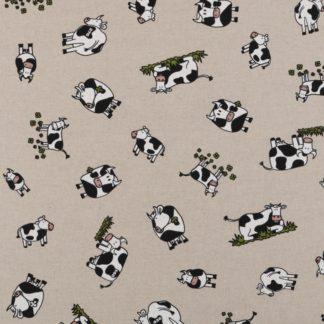 coton effet lin vache