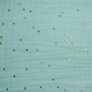 double gaze pimiz vert menth à pois