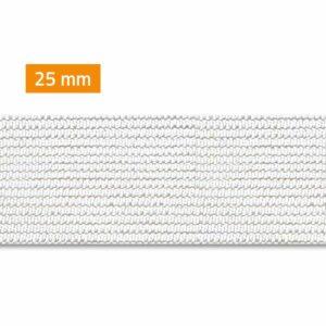 élastique 25mm blanc