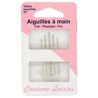 Aiguilles à main cuir - plastique - PVC