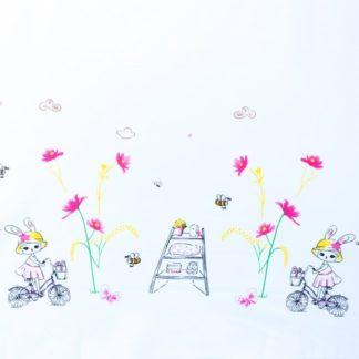 Popeline lapin printemps