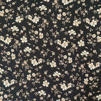 fleurs fond noir