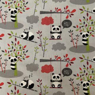 Panda fond gris