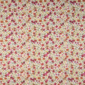 coton fleurs orange