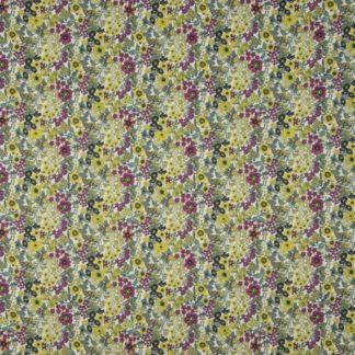 coton fleurs vertes