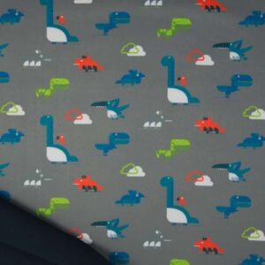 softshell dinosaures fond gris