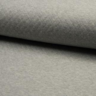 tissu matelassé gris
