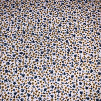 Mini fleurs jaune et bleu