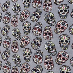 coton crâne mexicain fond gris