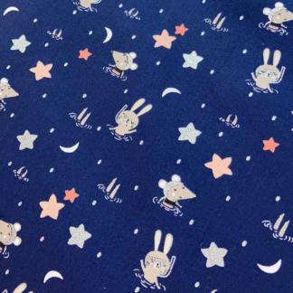 Coton souris et étoiles