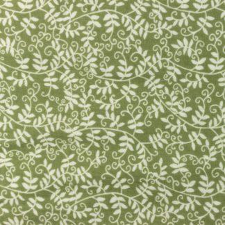 Double Gaze Coton Lierre vert