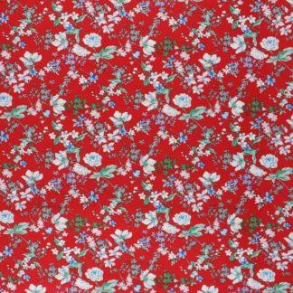 Tissu viscose anais rouge
