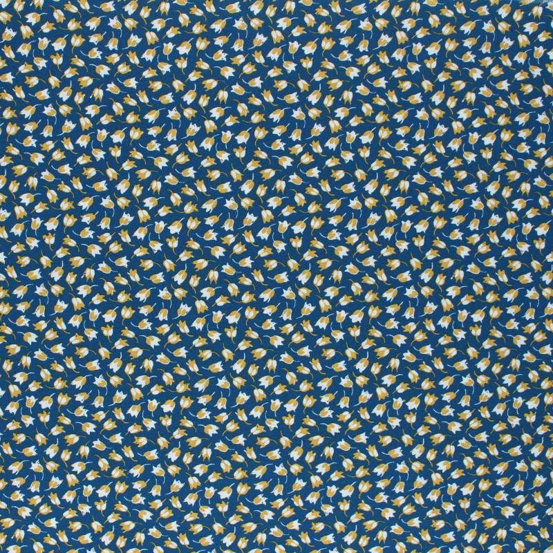 tissu viscose claudia bleu