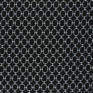 tissu viscose Ines silver et noir