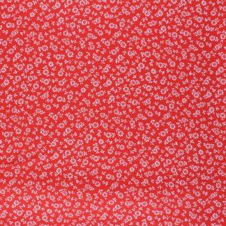 tissu viscose lison rouge
