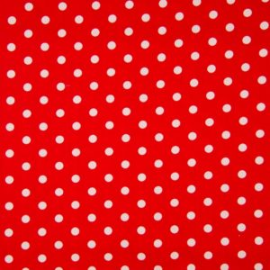 gros pois fond rouge